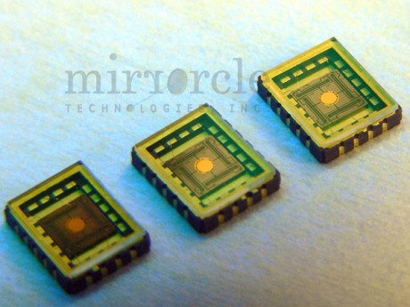 Packaged micromirror devices. (Credit: Mirrorcle Technologies, Inc.).