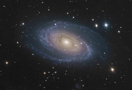 M81 - Spiral Galaxy in Ursa Major. Image courtesy of Bob Fera