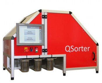 QualySense's QSorter takes a high-resolution color image of grain from which it can identify defects. A near-infrared sensor is also used to define how much protein or moisture content is in the grain.