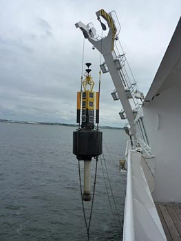 Galway buoy being placed in position