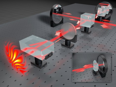 Scheme of the experimental setup for measuring holograms of single photons at the Faculty of Physics, University of Warsaw.