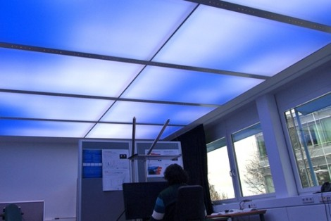 Virtual sky using LED lighting technology