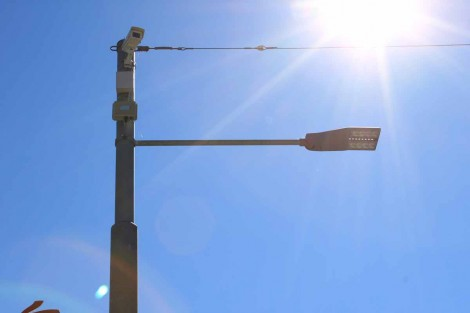 IP cameras in Chiasso, Switzerland are installed on light poles, taking advantage of PE.AMI network infrastructure