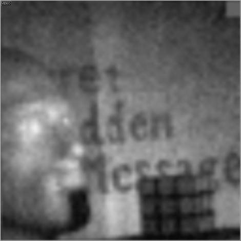 : Shortwave infrared image captured by a single pixel video camera