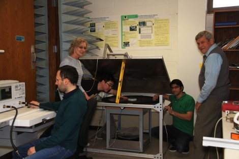 Professor Semouchkina and her team perform proof-of-concept cloaking experiments at microwave frequencies