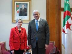 UNESCO Director-General and the Prime Minister of Algeria Credit UNESCO