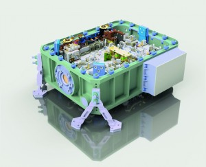 The LIDAR system for the MERLIN mission incorporates all components from the pump laser to the frequency conversion in a particularly compact design suitable for space operation Photo Fraunhofer ILT, Aachen, Germany