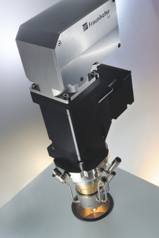 The new system for measuring the powder jet.