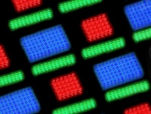 Organic light emitting diode OLED arrays generated in solution can overcome many fabrication challenges Credit Zak Page
