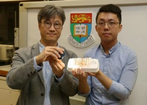 Professor Alfonso Ngan and Dr Kwan Kin-wa introduce the new actuating material powered by light Credit Copyright The University of Hong Kong