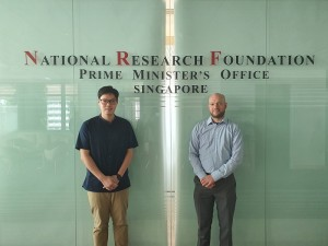 Dr Charles Lim, Assistant Professor at NUS and Joris Van Campenhout, RD Program director at imec