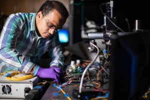 The advantage to Ramy Radys chip design project over all previous solutions is its small size and high-speed operation CREDIT Justin Baetge, Texas AM Engineering