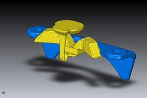 CAD model used in 3D printing