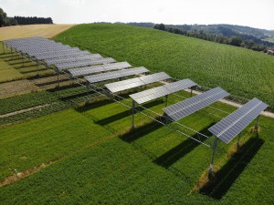BayWa re The agrophotovoltaic system in Heggelbach near Lake Constance in Germany