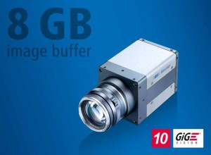 The QX series 10 GigE cameras with 8 GB internal image memory and 335 fps at 12 MP resolution enable flexible implementation in varied high-speed applications