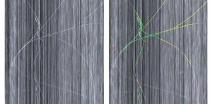 Recording of a fiber bundle on a carbon fiber carpet Left Original image Right Segmented defect