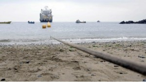 Researchers used the Curie transoceanic subsea fiber optic cable for geophysical sensing The Curie cable connects Los Angeles, California with Valparaiso, Chile pictured Credit Google