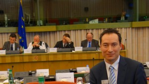 Carlos Lee of EPIC makes presentation on photonics to the European Parliament
