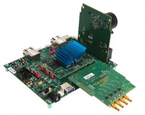 MVDK evaluation board with MIPI CSI-2 sensor and CXP interface board