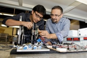 Electrical engineers at Caltech developed a small microchip that generates THz waves in a relatively unexplored region of the electromagnetic spectrum