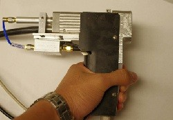 A photograph of the handheld probe