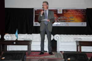 Mr Michael Millward, Director of the UNESCO office in Rabat, during his speech Credits Mohamed Kessabi