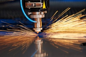 Industrial laser at work