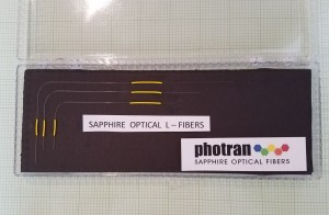 Sapphire L-fibers from Photran for measuring temperature gradients