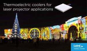 Laird thermocooler for laser projectors