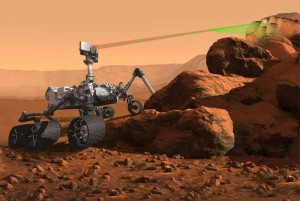 Artist concept of the SuperCam instrument for Mars 2020 Rover