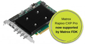 FPGA Development Kit for Matrox Rapixo CXP Pro Frame Grabbers Released