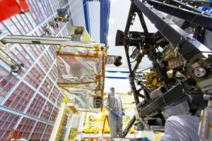 Engineers install the NIRSpec instrument in the heart or ISIM of NASAs James Webb Space Telescope Credit NASAChris Gunn