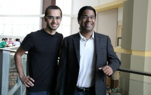 Graduate student Saman Jahani, electrical engineering professor Zubin Jacob, University of Alberta