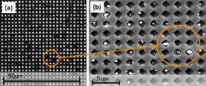 Nanohole arrays by University of Houston Credit BaoWillson