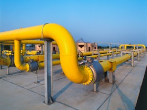 Natural gas distribution pipes