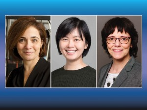 From left to right Michal Lipson, Joyce Poon and Ulrike Woggon