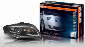 The first full retrofit headlight from Osram for the Audi A4 combines xenon and LED technologies