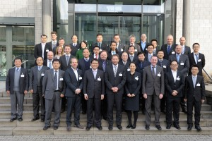 The collected attendees of the recent Sino-German Symposium in front of the Fraunhofer Institute for Laser Technology ILT