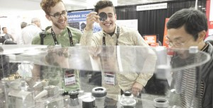 The robust photonics industry is on display at SPIE Photonics West, from many angles and perspectives above, visitors at the 2015 Photonics West Exhibition take a look at some of the latest optics technology
