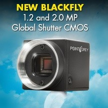 Point Grey Debuts Latest Blackfly Models with Global Shutter