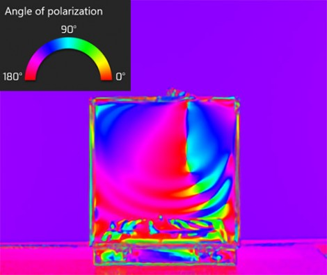 Polarized light passing through