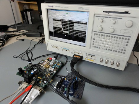 Prototyping board with oscilloscope