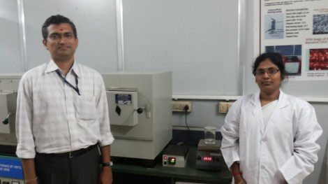 Researchers Dr R Arun Kumar with research scholar at the GRD Centre for Materials Research, PSG College of Technology, Coimbatore, India