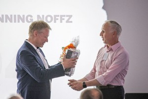 Dr Dietmar Ley right thanks Dr Klaus-Henning Noffz left for the many years of successful management of Silicon Software GmbH