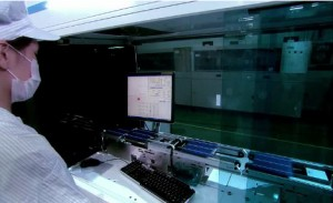 Inspection systems make use of the highest speed that CoaXPress offers Photo Suntech Power