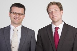 Dr Gunther Lermann, Senior Sales Manager Scientific, and Dr Martin Ruge, Sales Manager Ultrafast Laser