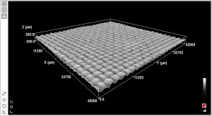 Carbon matting surface replicated using an ultrafast laser system