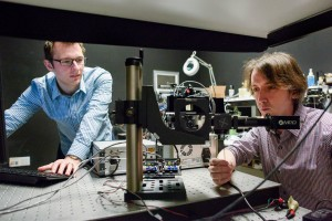 Laser-Based Non-Line-of-Sight Imaging Technology Graduate student David Lindell and Matt OToole, a post-doctoral scholar, work in the lab Image credit LA Cicero