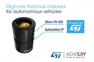 AdaSky, STMicroelectronics Bring DayNight High-Res Vision and Perception to Cars