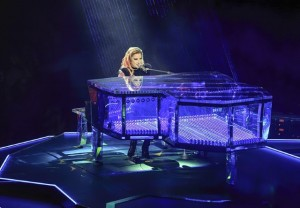 Lady Gaga on her laser piano